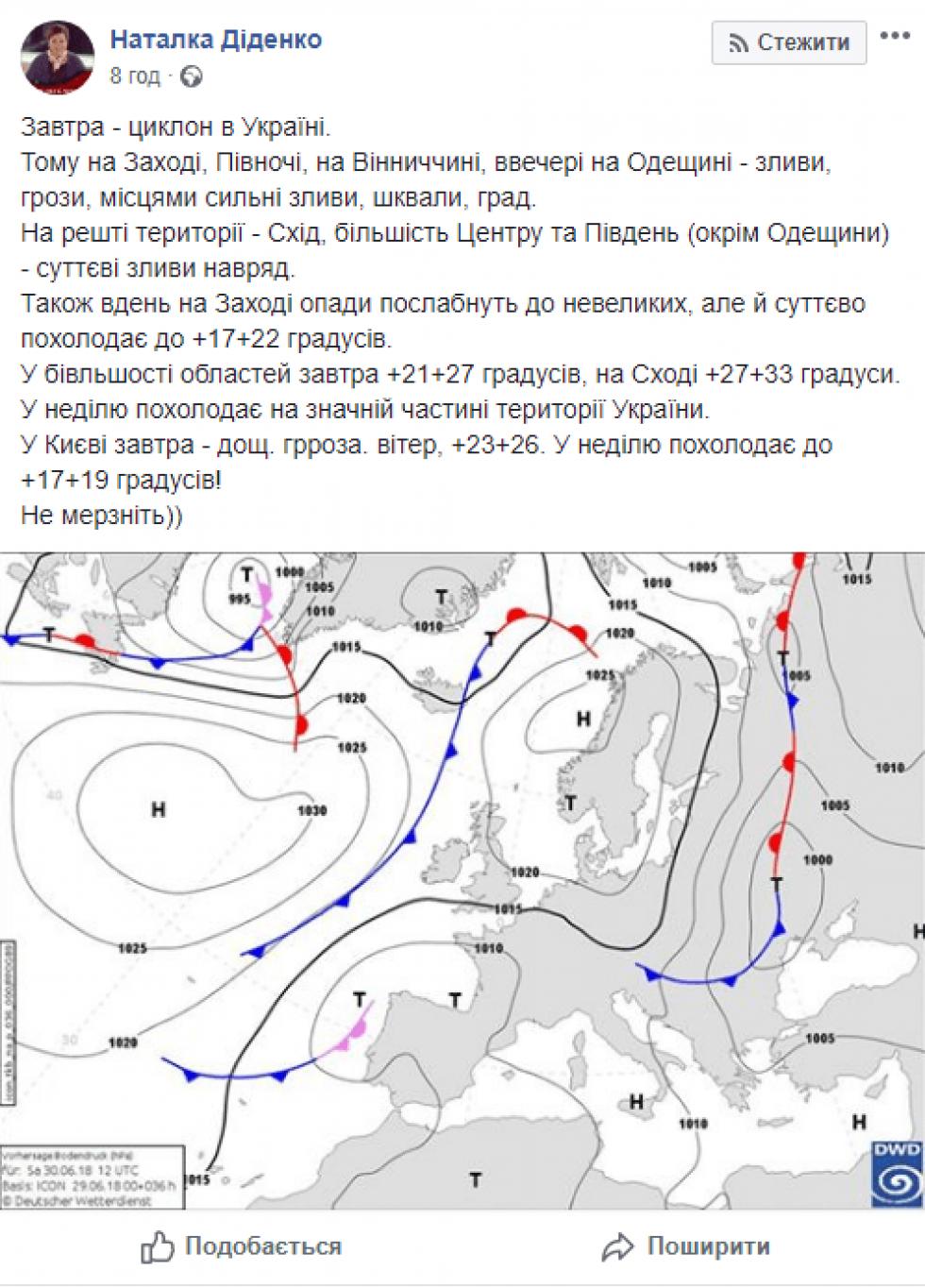 Циклон в Україні