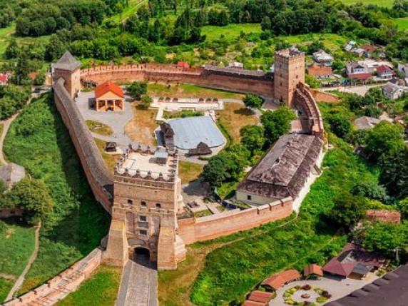 Луцький замок з висоти пташиного польоту