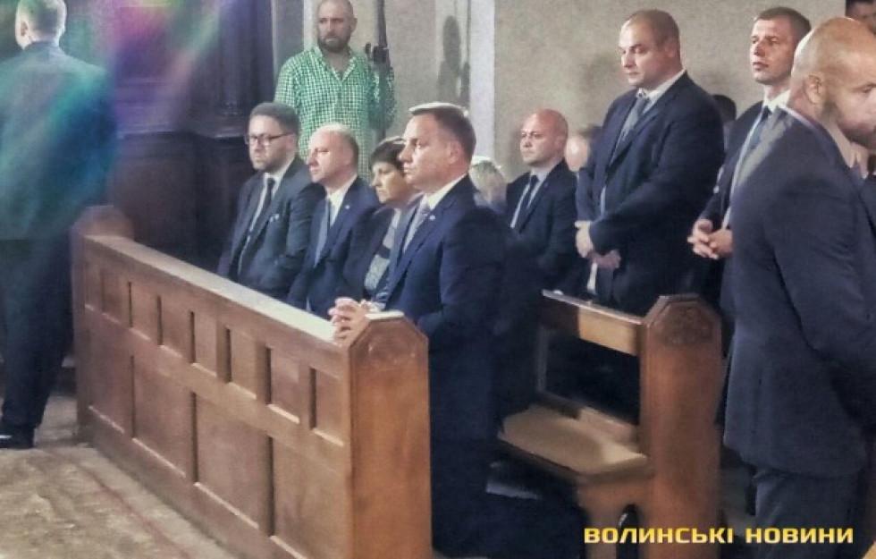 Польський президент Анджей Дуда взяв часть у жалобній месі