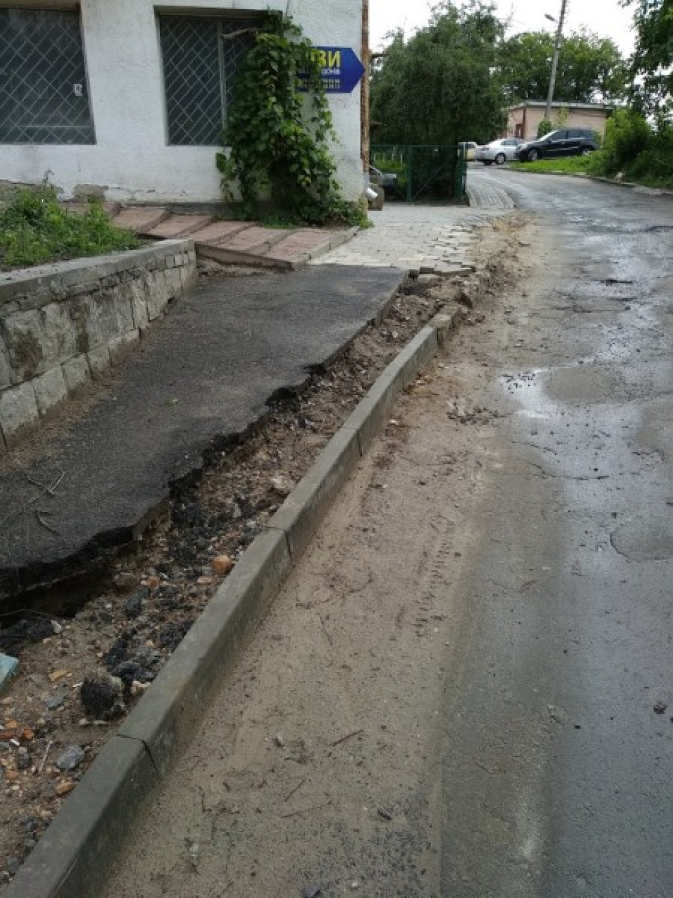 Тротуари зіпсували через ремонт