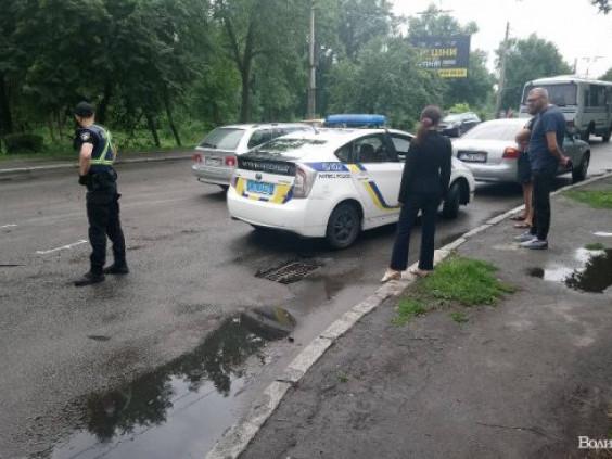 Аварія в центрі Луцька
