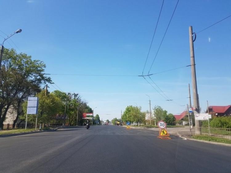 Ремонт дороги у Княгининку