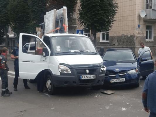 Аварія у центрі Луцька
