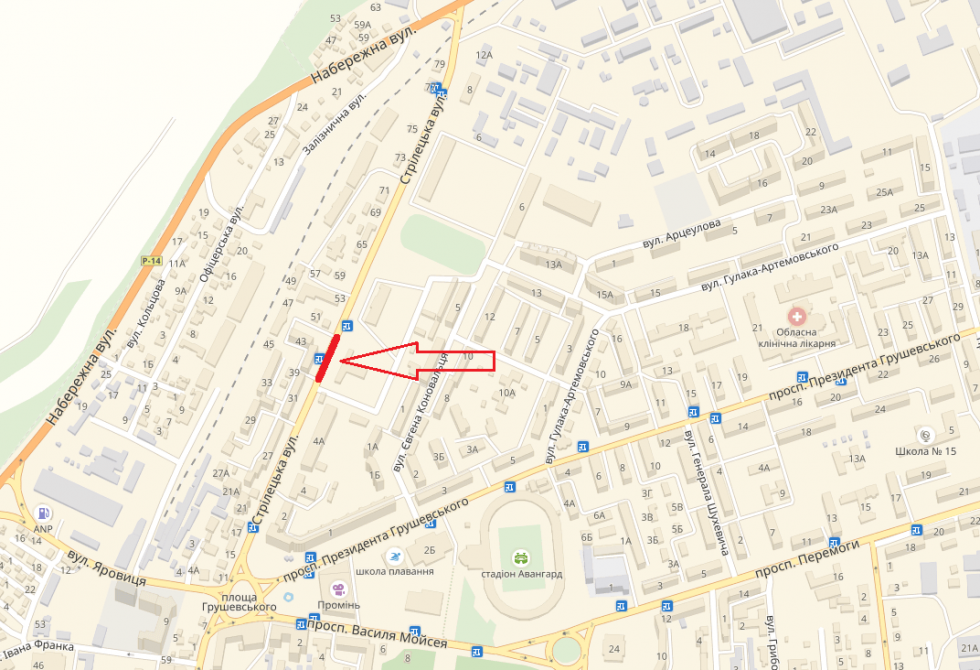 вулиця Стрілецька