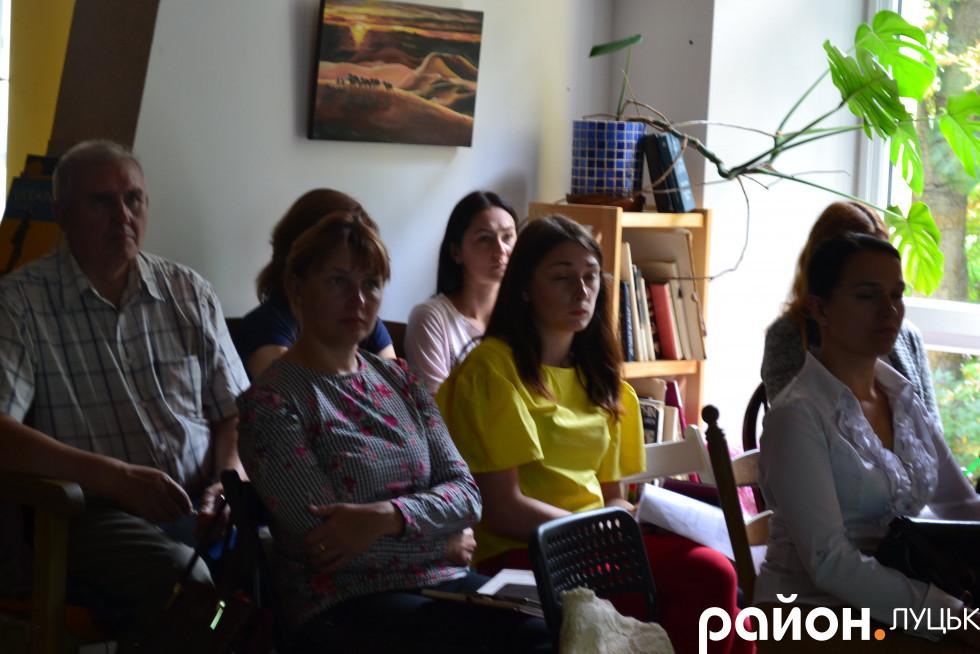Під час презентації проекту «Забезпечення соціального супроводу та підтримка на робочому місці дітей із синдромом Дауна»