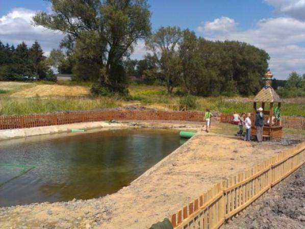 У Воротневі облаштували ставок з джерельною водою