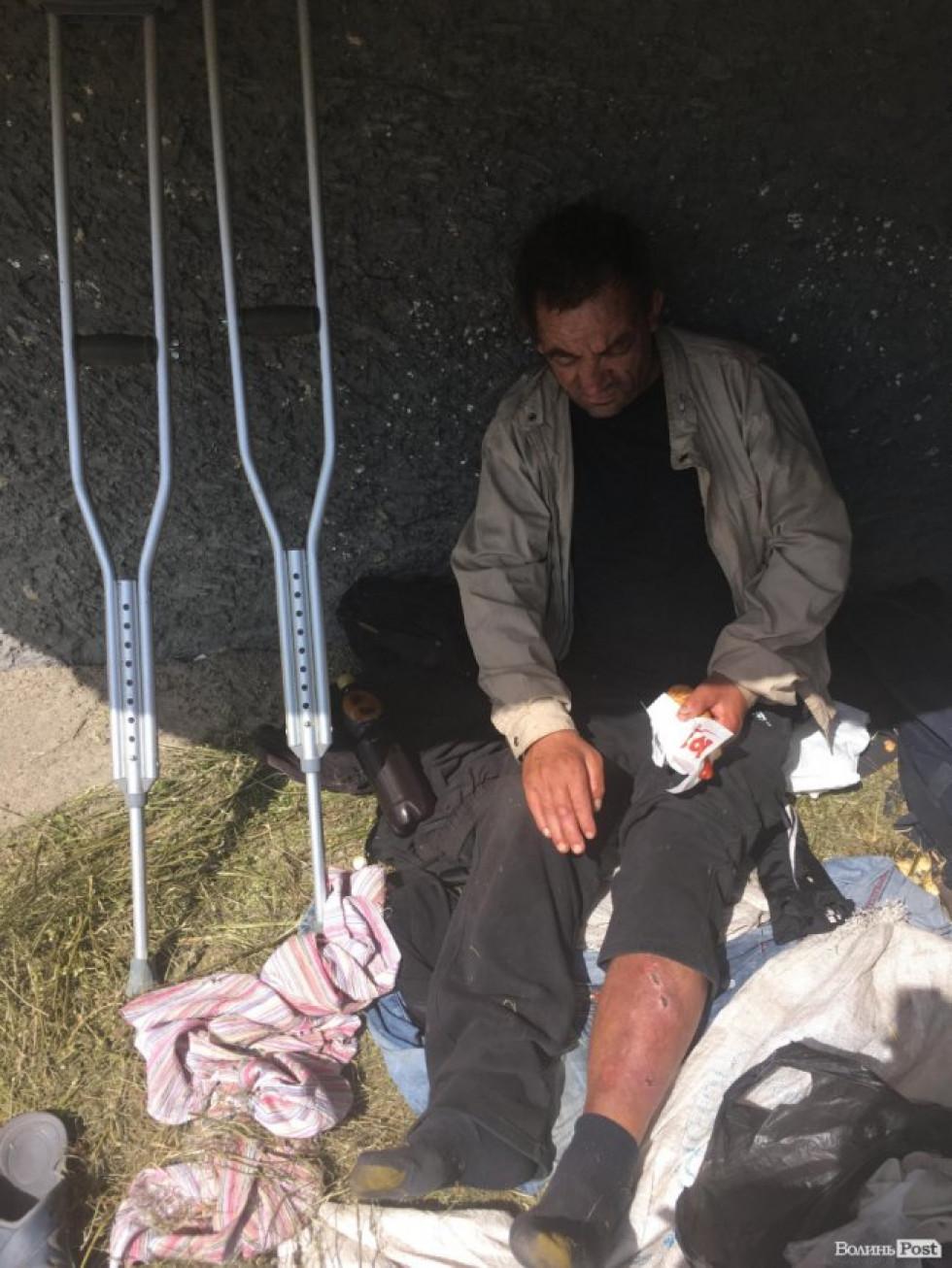 Іван Стасюк знову змушений жити на вулиці