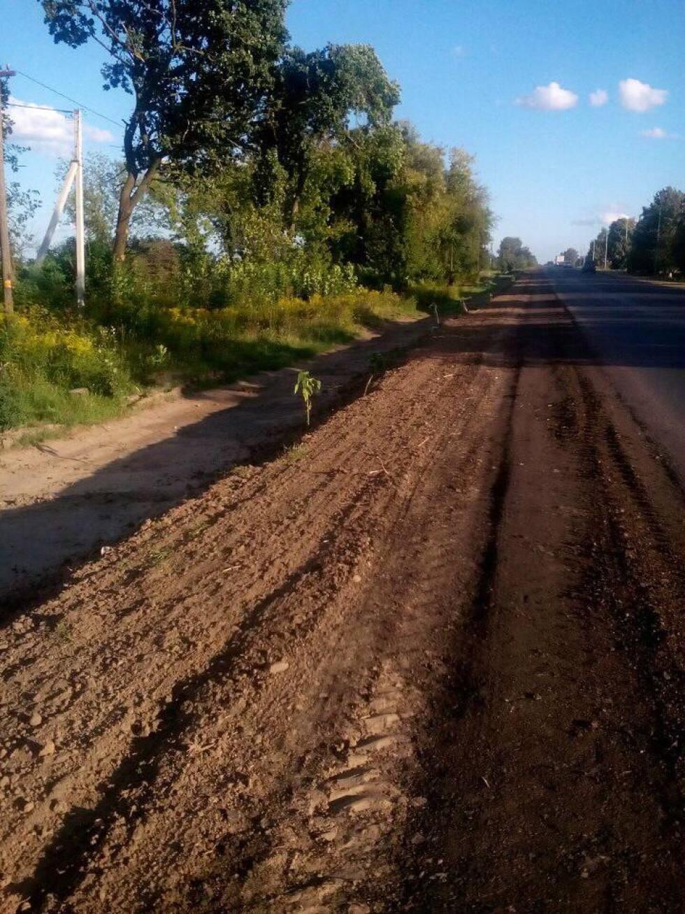 У селі Сирники Луцького району скаржаться на недроблені зупинки, які вже місяць стоять розриті.