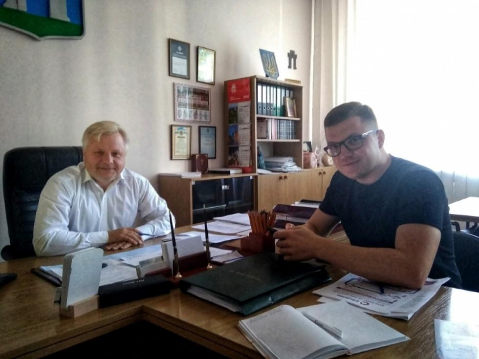 Відбулася зустріч співзасновника громадянського руху «Свідомі» та секретаря Рівненської міськради