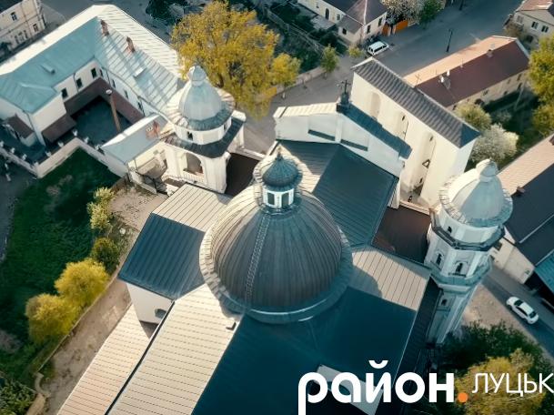 Старе місто Луцька з висоти