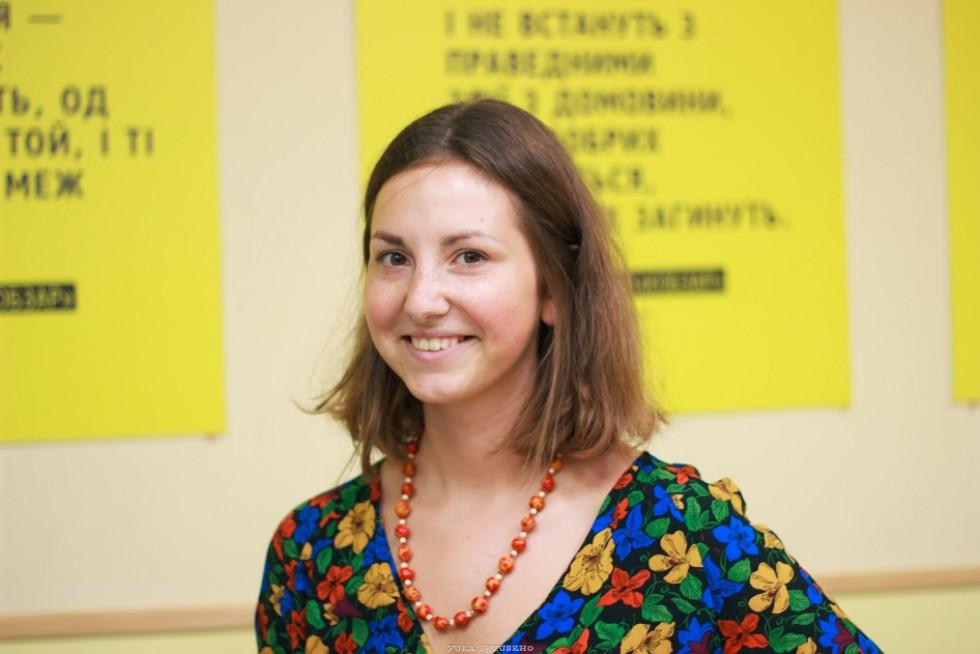 Організаторка заходу волонтерка Молодіжного центру ВолиніУляна Кашепа