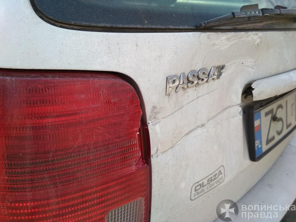 Автівки зазнали незначних механічних пошкоджень