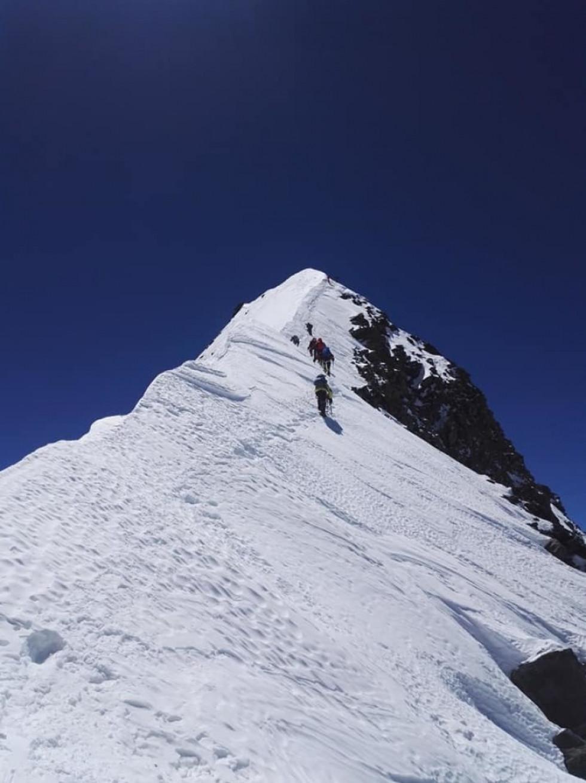 Під час сходження на вершину