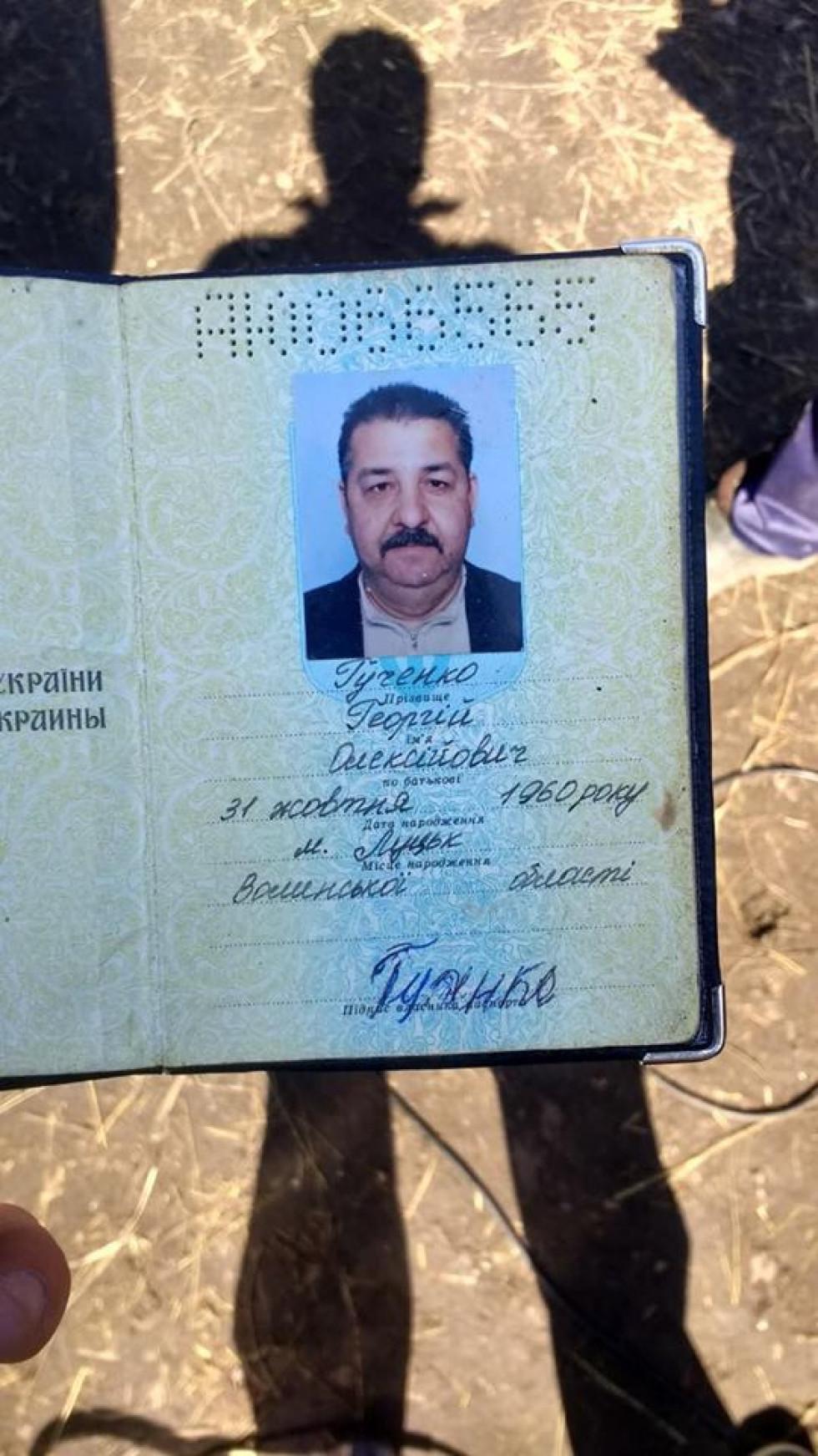Паспортні дані Гученка Георгія Олексійовича