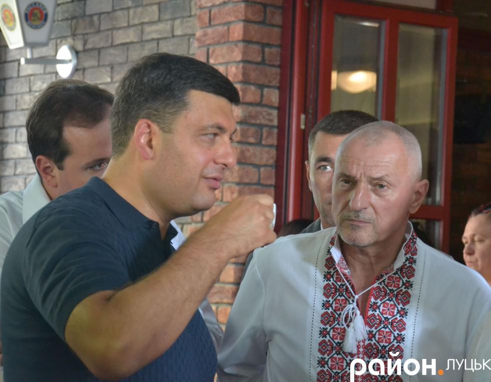 Кавування Володимира Гройсмана у Луцьку