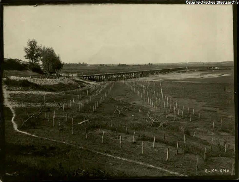 Панорами села Милуші на фото 1917 року