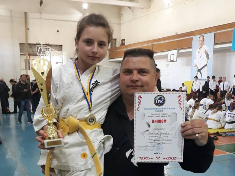 Дівчина з Боратина стала переможницею Національних змагань з карате Кіокушинкай