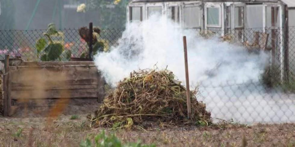 Спалювання сухостою призводить до забруднення повітря