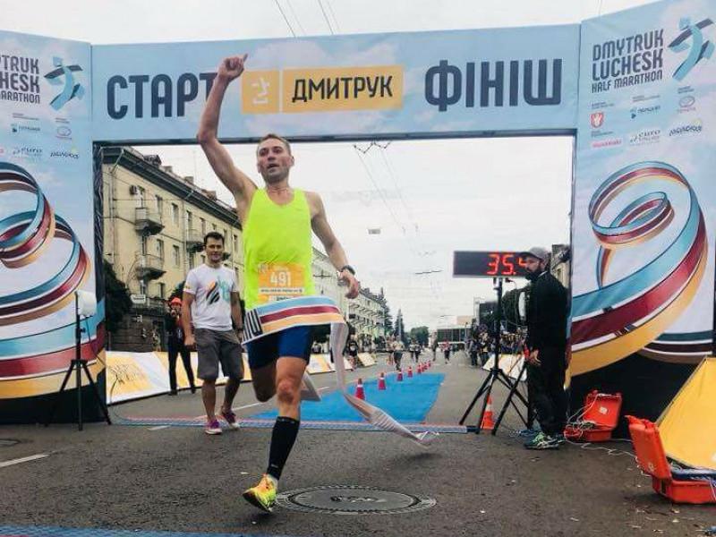 Валерій Макарун на фініші