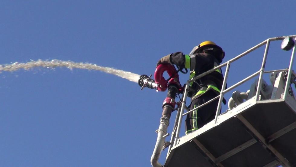 Під час гасіння умовної пожежі
