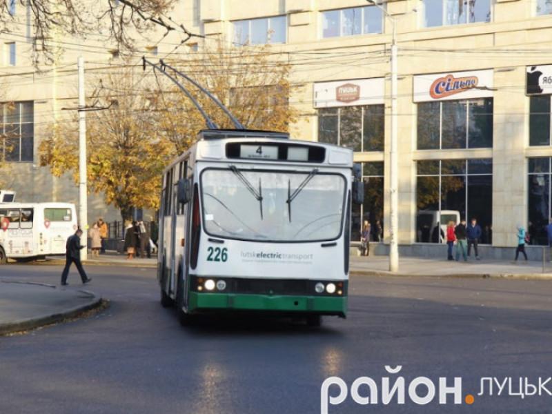 Тролейбус у Луцьку