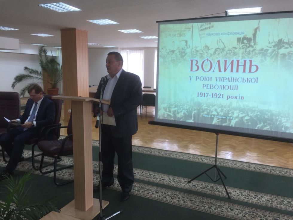 . Пирожик Олександр Веніамінович, перший заступник голови Волинської обласної ради.