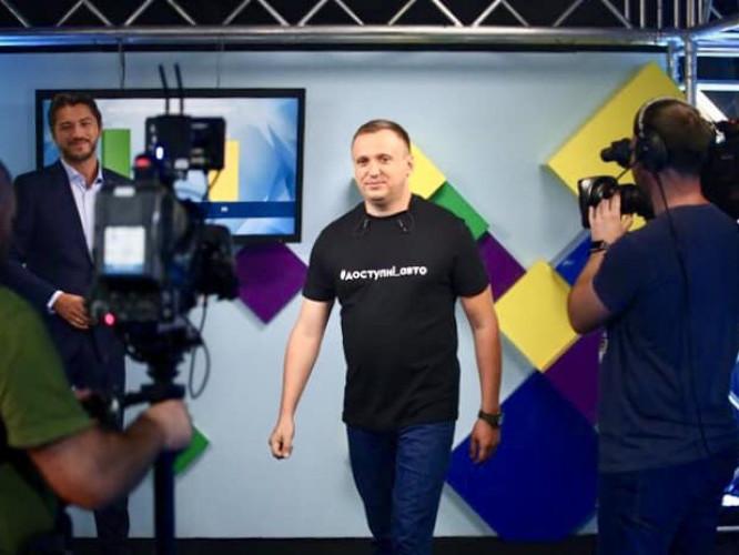 Сергій Чуріков під час запису програми