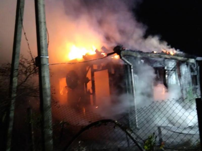пожежа охопила будинок