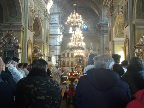 Прощання з Віктором Лахаєм у соборі
