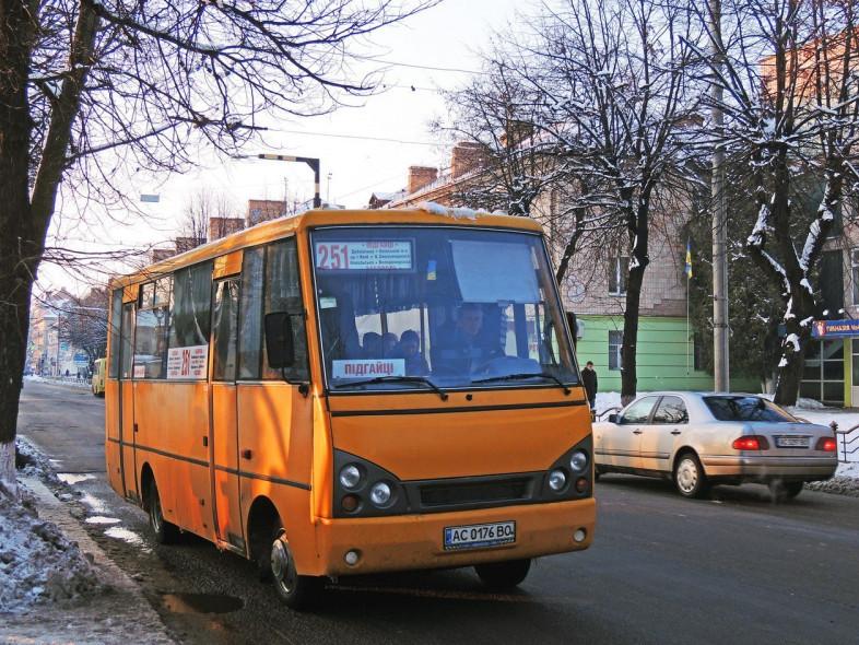 Маршрутка №251 в Луцьку