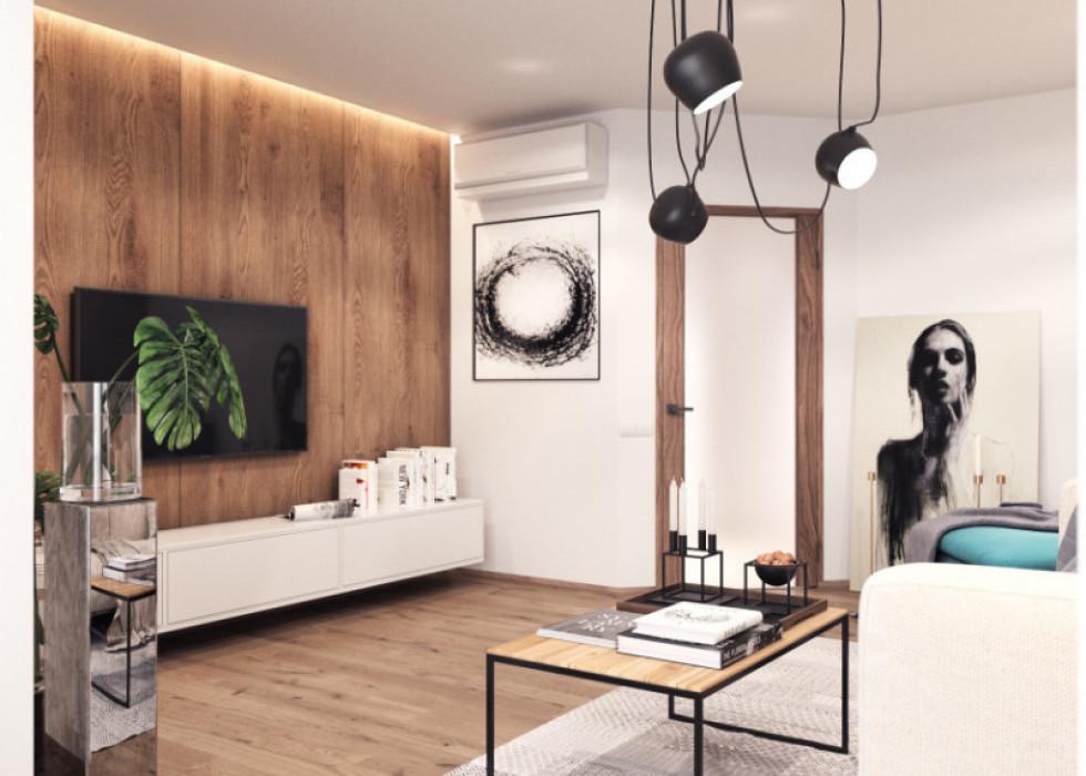Дизайн інтер'єру  2-кімнатної квартири площею 79,1 м² у «Юпітері»