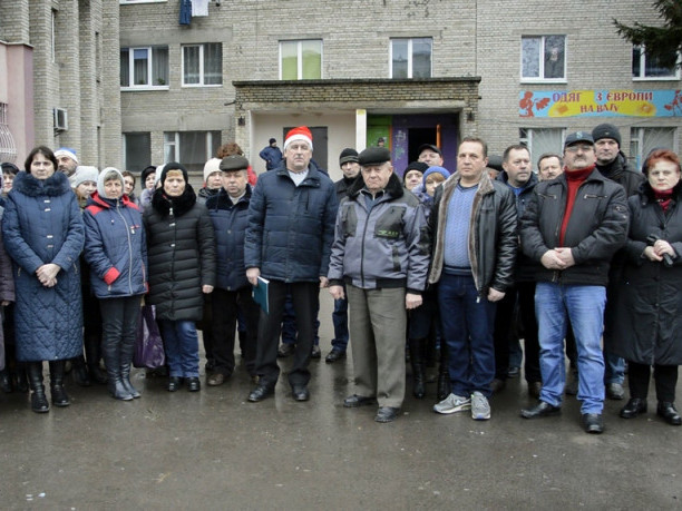 Мешканці гуртожитку заводу «Електротермометрія» в Луцьку