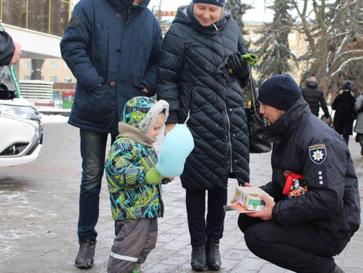 Різдво з патрульними в Луцьку