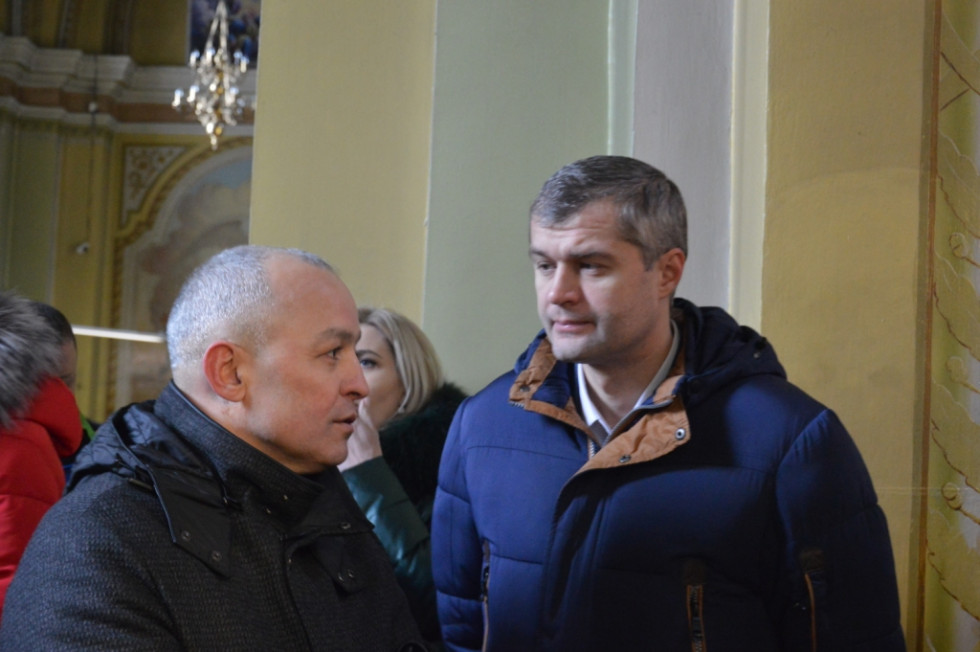 Депутати Волиньради Микола Буліга та Вячеслав Рубльов