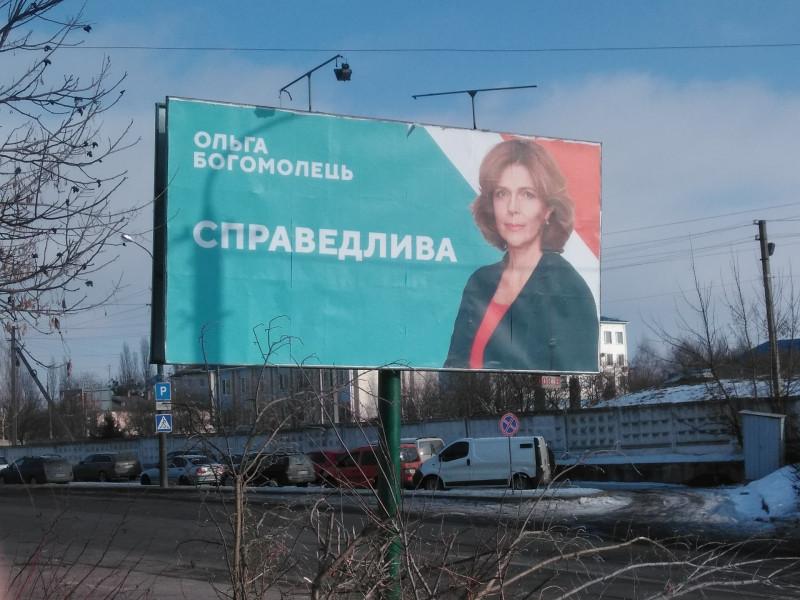 Білборд Ольги Богомолець в Луцьку