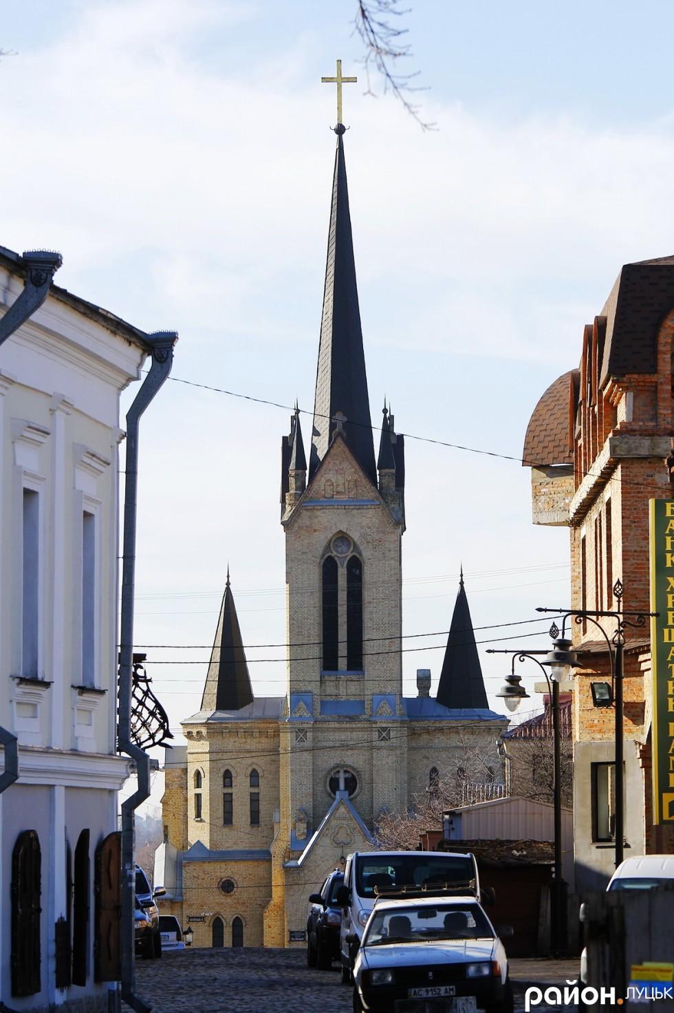 Лютеранська кірха.Старе місто Луцьк