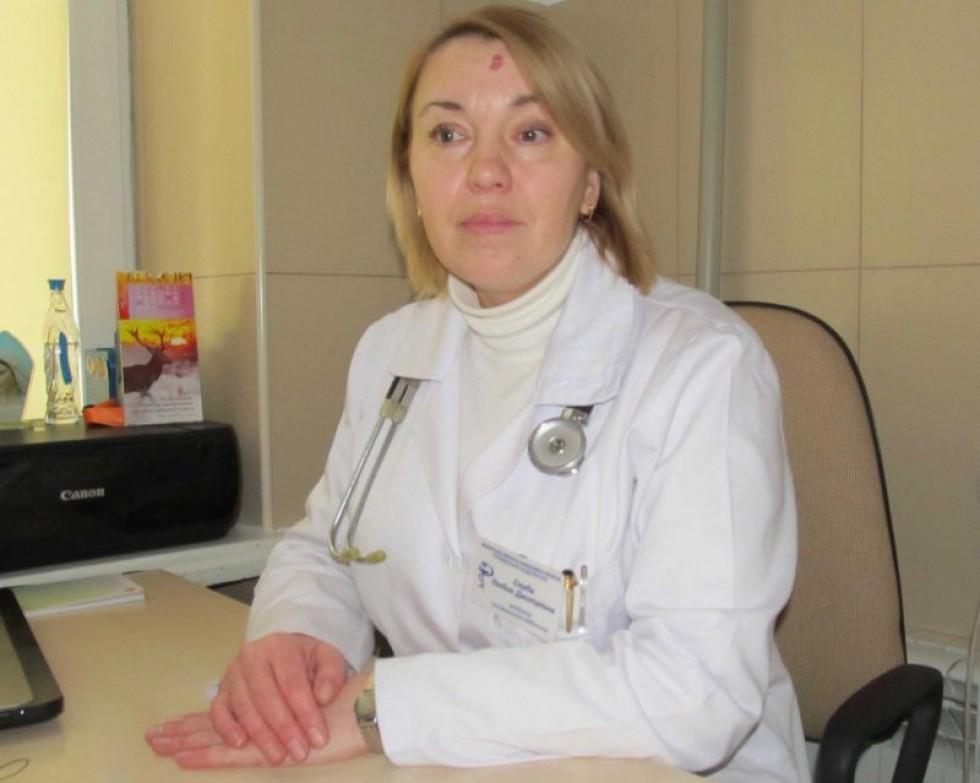 Завідувач приймальним відділенням Волинської обласної інфекційної лікарні Любов Серба