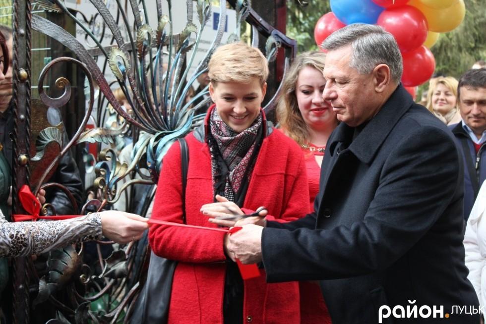 Луцький міський голова Микола Романюк відкриває зоопарк