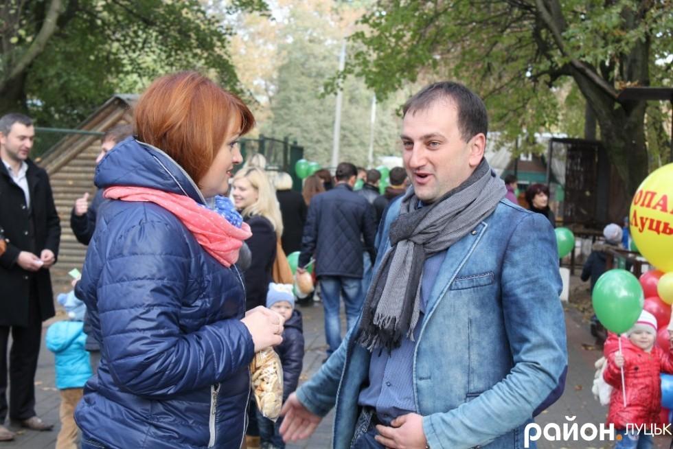 Тарас Яковлев на відкритті оновленого зоопарку у Луцьку