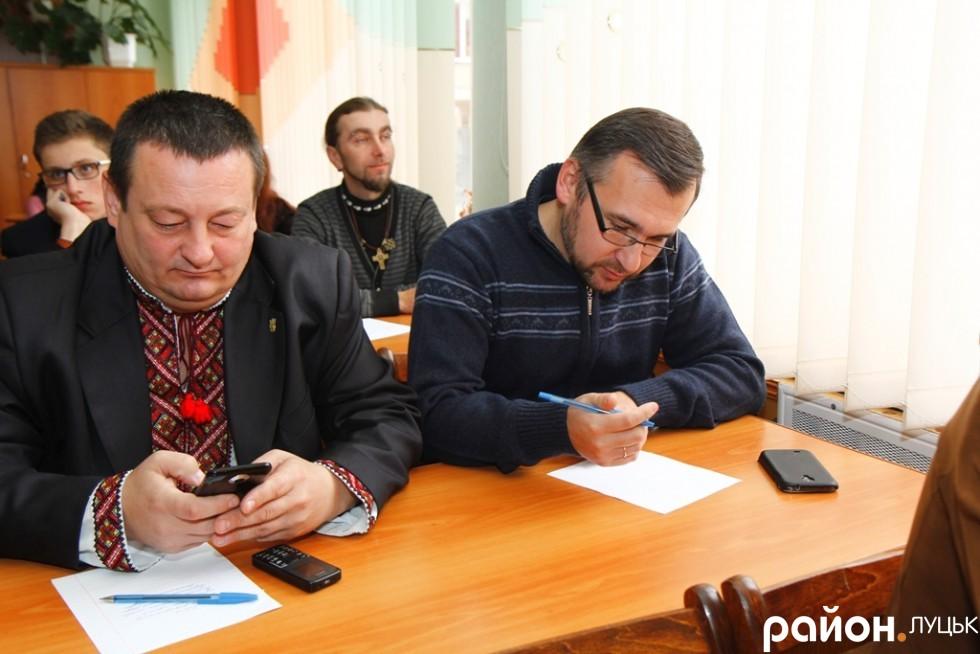 Олександр Пирожик та шеф-редактор «Сім'ї і Дому» Юрій Ричук