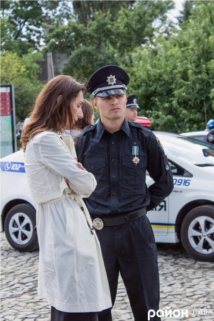 Ека Згуладзе та Олександр Фацевич на Замковій площі. Липень, 2015 рік