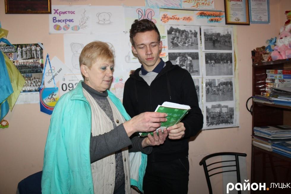 Наталя Зінь з вихованцем клубу