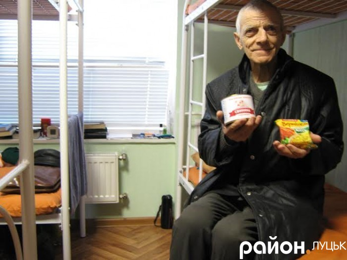 Володимир Воровченко вдячний за прихисток і харчі, бо інакше замерз би на вулиці