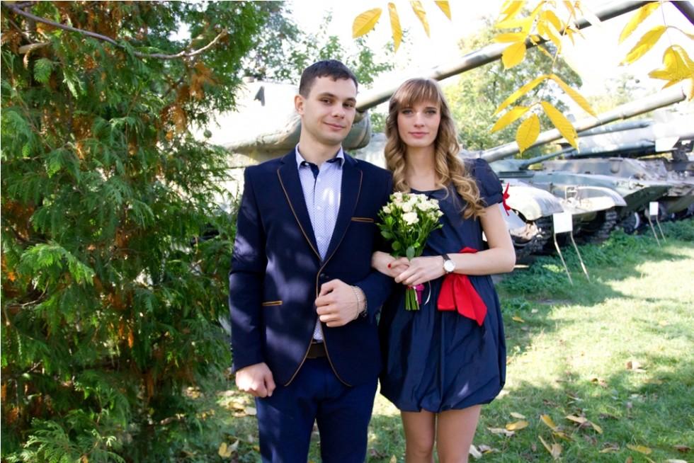 Іван та його дружина Олена у день свого одруження. 4 жовтня 2014