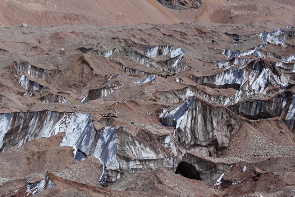 Льодовики Los Horcones під Аконкагуа