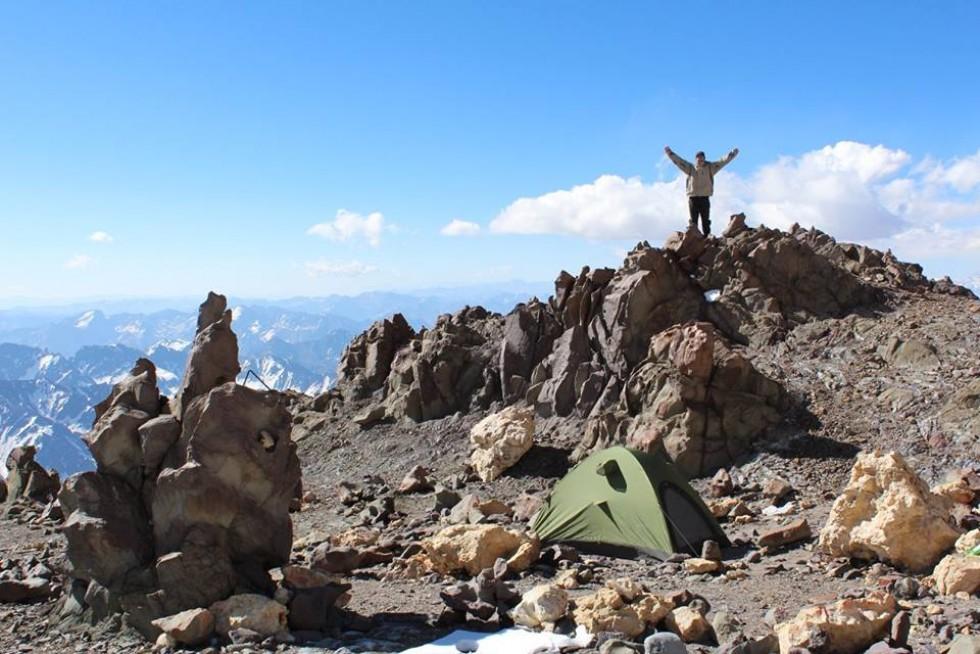 Табір Берлін дорогою до вершини Аконкагуа, висота 6 000 м