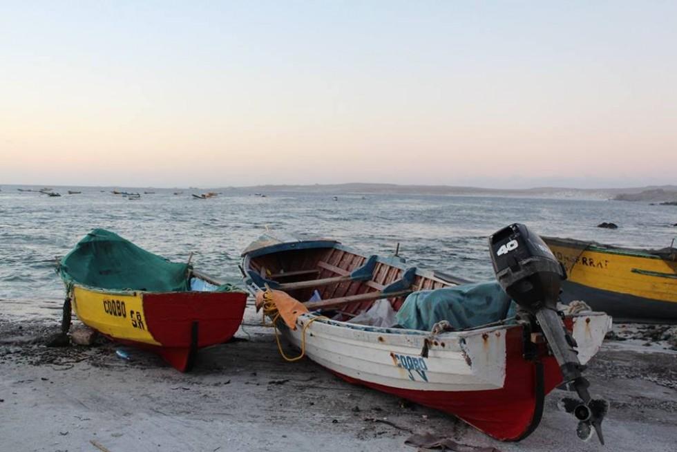Саме такими човнами мандрівників доправили до острова, де живуть пінгвіни Гумбольдта