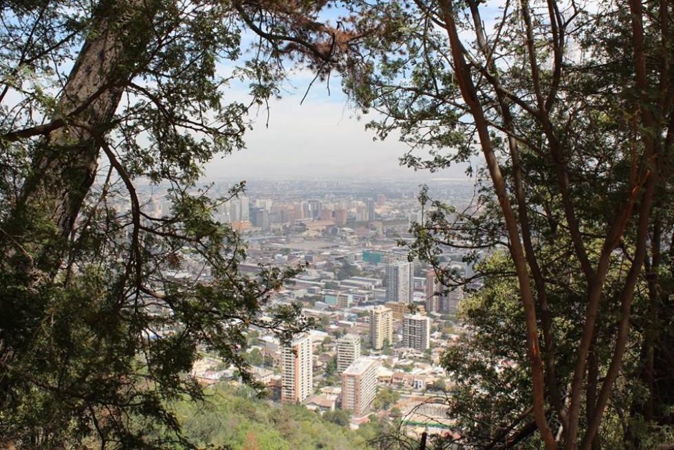Вид згори на столицю Чилі - Сантьяго