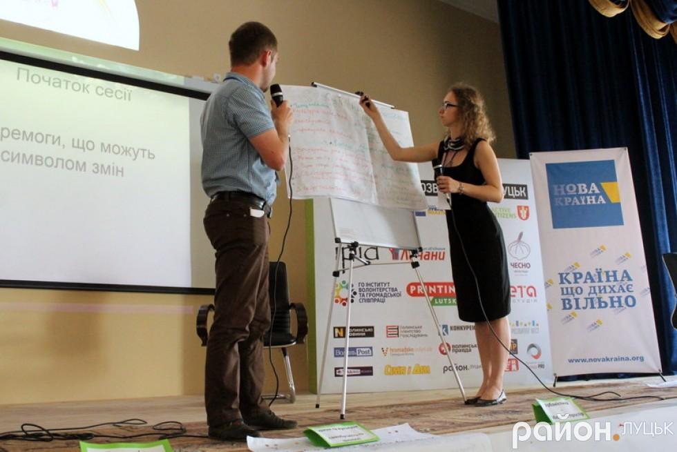 Андрій Білан та Вікторія Мисан озвучили урбаністичні ідеї учасників форуму