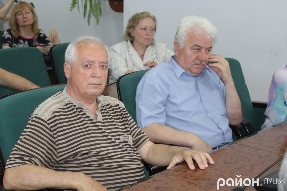 Степан Шегда - ініціатор фестивалю та Михайло Савчак - керівник обласного осередку НСЖУ